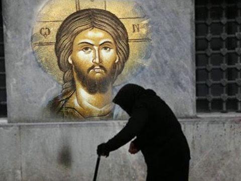 Αποτέλεσμα εικόνας για Ο άθεος και η γριούλα.