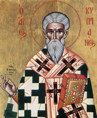 Αποτέλεσμα εικόνας για αγιος κυπριανος