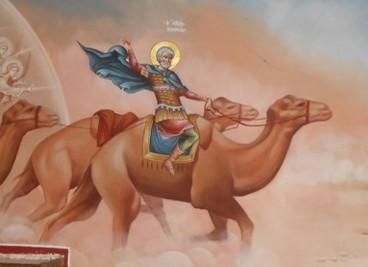 Αποτέλεσμα εικόνας για αγιου μηνα θαυμα ελ αλαμειν