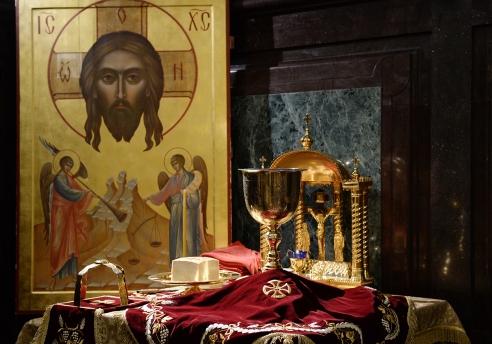 Αποτέλεσμα εικόνας για Ο μοναχός απο το Σινά και το θαύμα στην Θεία Λειτουργία