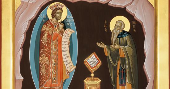 Αποτέλεσμα εικόνας για οραμα οσιου παισιου αγιος κωνσταντινος