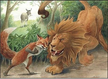 ΚΑΘΗΜΕΡΙΝΟ ΡΟΥΚΟΥΜΟΥΚΟΥ: ΑΙΣΩΠΟΥ ΜΥΘΟΙ 77. Το λιοντάρι, ο γά'ι ...