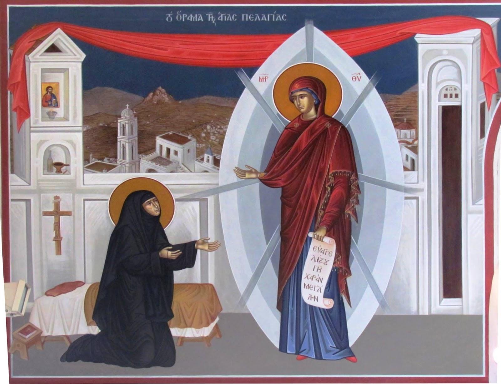 Αρμενιστής: Οσία Πελαγία η Τηνία +23 Ιουλίου το όραμα της Αγίας ...