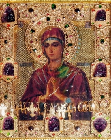 Θεοτόκος: Η θαυματουργή εικόνα της «Παναγίας της πραύνουσας καρδίας κακάς»  Η μυροβλυσία της και τα συνεχόμενα θαύματά της